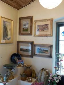 Photo display at Cedar Creek Pottery in Cedarburg
