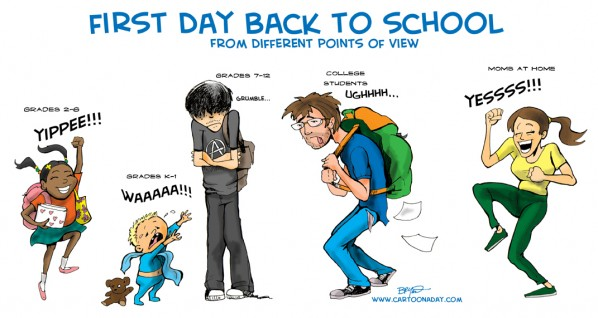 first day back to school perspectives comic ozaukee magazine