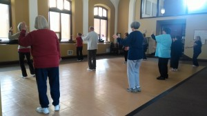 Students in the Beginner Tai Chi class at the Port Washington Senior Center