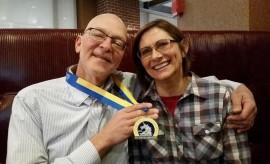 marathon Paul and wife